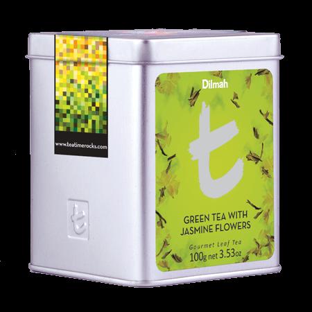 Green Tea with Jasmine Flowers