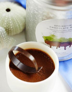Chocolate Pot with Ceylon Tea and Chocolate & Mint