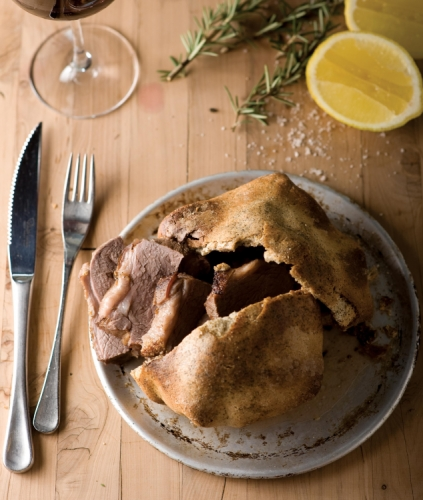 Lamb Rump Baked in a Ceylon Tea and Salt Crust