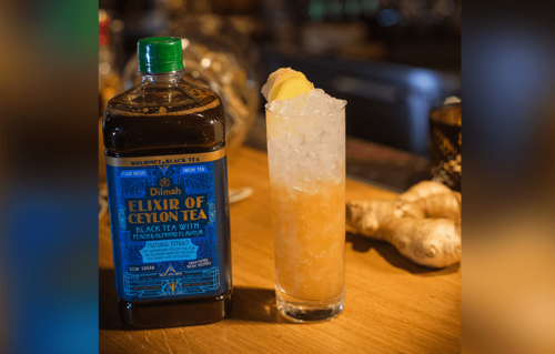 Black Tea Peach & Almond - Ginger Splash