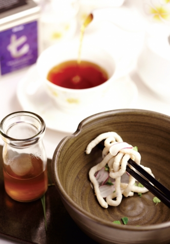 RED SNAPPER UDON WITH LIQUORICE FLAVORED DASHI AND ATSINA