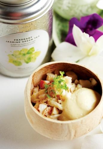 Tom Yum inspired Lobster Salad with Fragrant Jasmine Green Tea Foam
