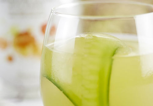 Cucumber Rocks mocktail
