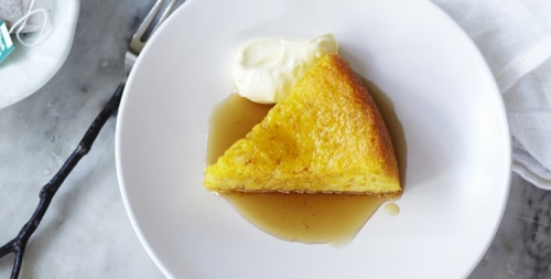 Orange Cake with Peppermint and Cinnamon Tea Syrup