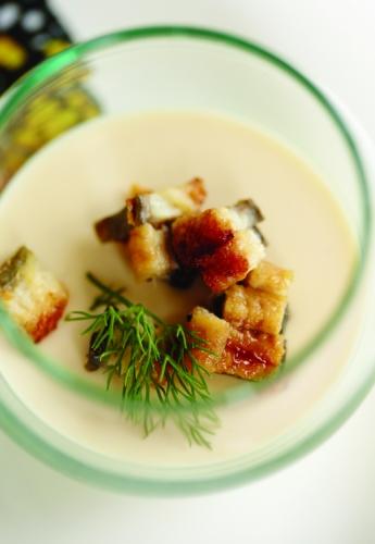 CAULIFLOWER AND EARL GREY TEA PANNA COTTA