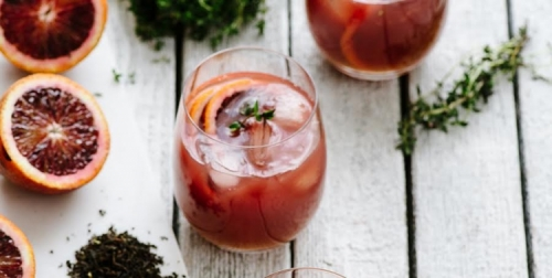 Spiked Blood Orange Tea (Dilmah Luxury Leaf Evening Tea remix)