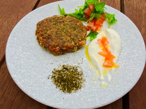 Park estate Emerald Green special OP Bulgur falafel With green tea salt