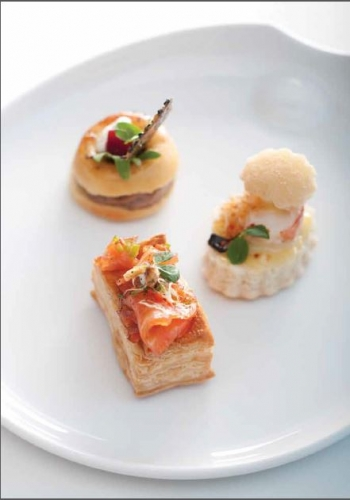 Millefeuille of Salmon two ways