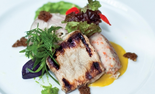 Grilled Chicken Fillet Marinated with Dilmah English Afternoon Tea