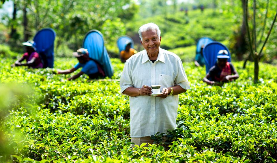 Dilmahs grundare 90 år och 70 år inom tebranschen!