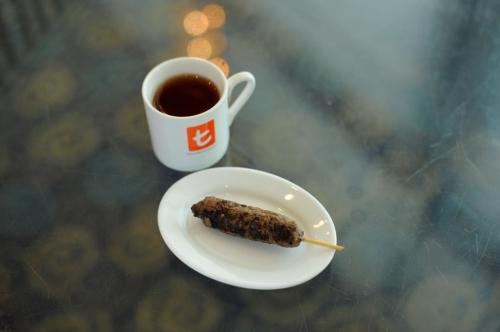 Ceylon Rose and Mint Tea With Turkish Kebab
