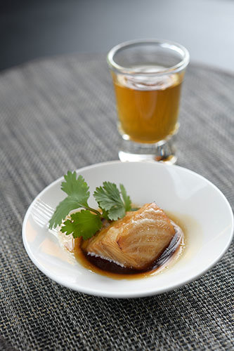 Traditional Oolong paired with Cod Teriyaki