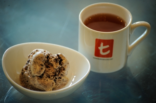 Ceylon Souchong with Dark chocolate ice cream