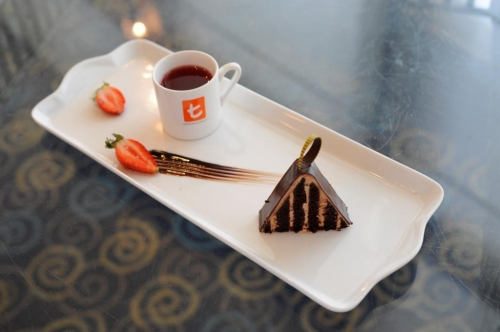 Blood Orange and Eucalyptus with Chocolate Cake