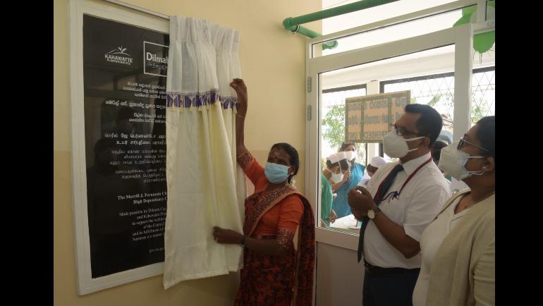 Dilmah Tea and Kahawatte Plantations donate High Dependency Care Unit to  Nawalapitiya General Hospital
