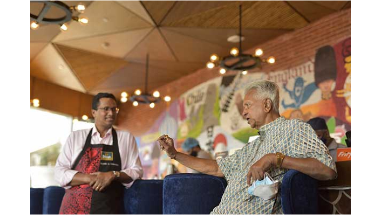 Dilmah blends tea and kithul served with...