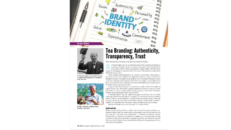 Tea Branding: Authenticity, Transparency, Trust