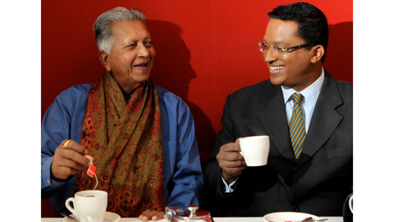 -Slurp- not sip-- The Dilmah family is trying to change tea-s image