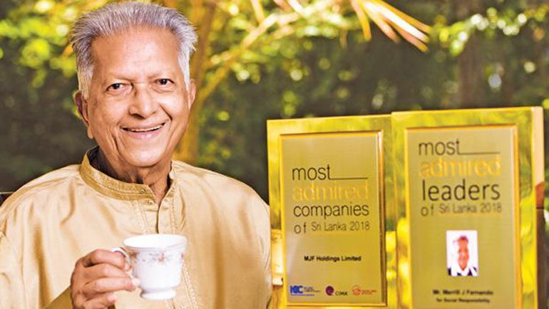 Merrill J. Fernando honoured as one of...