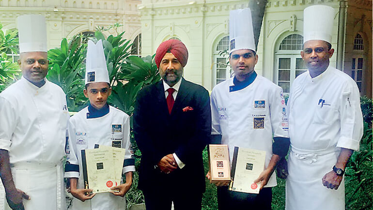 Taj Samudra Colombo emerges winners at Bocuse d' Or Sri Lanka 2017 with 'Best Dilmah Tea-Inspired Dish