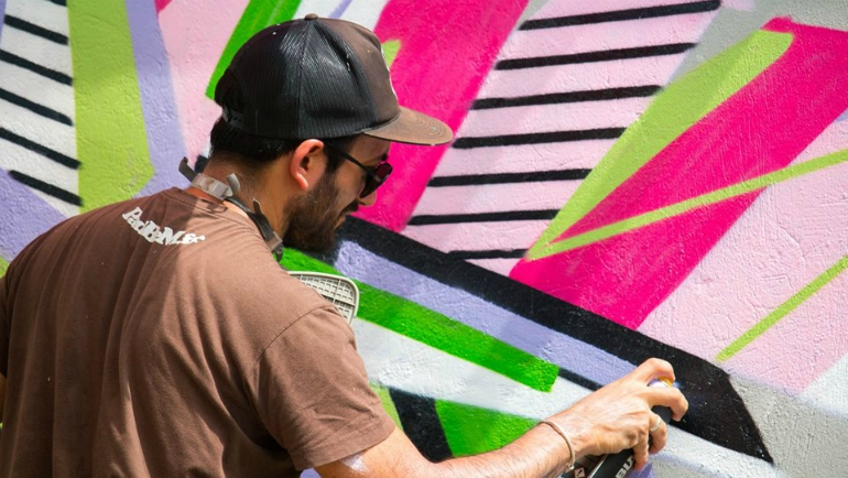 Daco is a French urban artist whose geometry-inspired graffiti has been featured around the world...