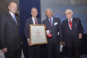 Dilmah Founder receiving the FIRST Award