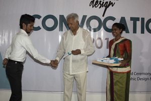 Convocation of the design course students