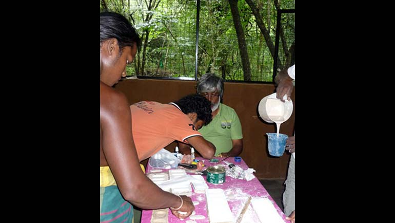 The Veddah Community benefits through Handicraft and Pottery Centre