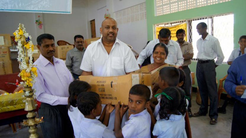School uniforms gifted to children in former war-affected areas