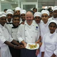 Young chefs at Empower Culinary Training Centre...