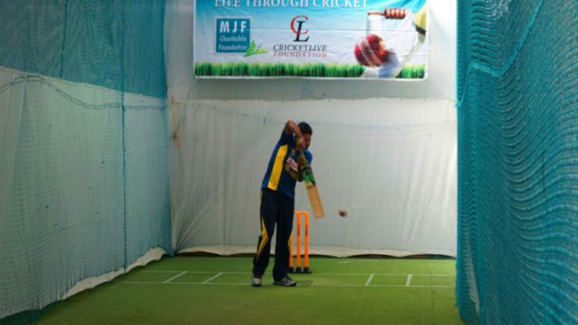 MJFCF and Cricket Live Foundation refurbish indoor nets at the De Zoysa Stadium, Moratuwa
