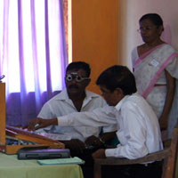 An eye clinic for senior citizens at the Imboolpitiya Estate