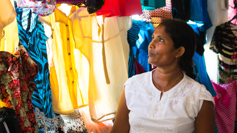 Seamstresses who found success in Pahalalanda.