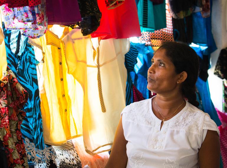 Seamstresses who found success in Pahalalanda.