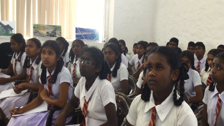 Climate Education at the Dilmah Climate Change...
