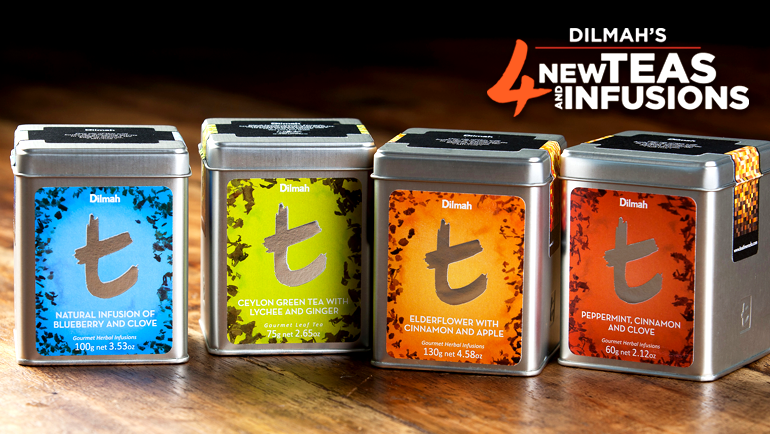 Herbs- spices and fruits... bursting in every gram of Dilmah-s 4 new teas & infusions