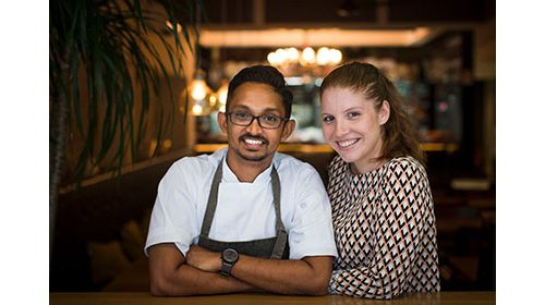 Sri Lankan born Australian Rishi Naleendra - Michelin Star Chef and the Owner of Cheek...