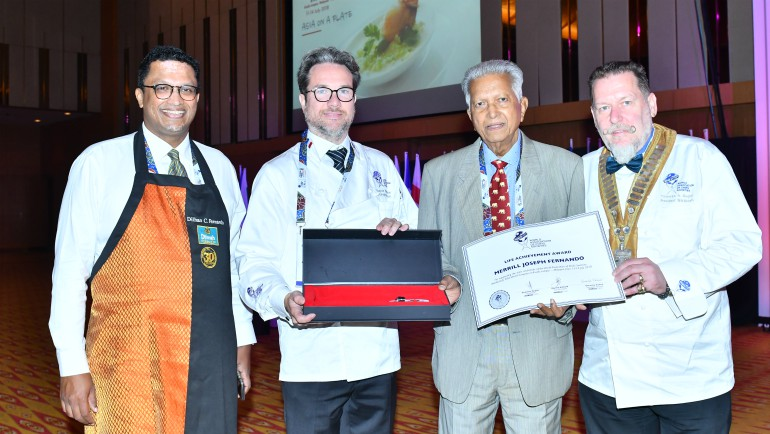 Sri Lankan Tea pioneer Merrill J. Fernando was honoured at the WorldChefs Congress 2018 with...