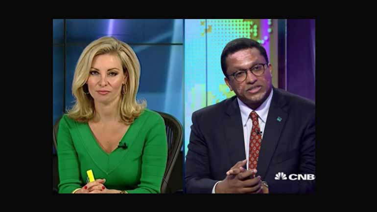 Dilhan C. Fernando, son of Dilmah founder Merrill J. Fernando, chats with Amanda Drury from...