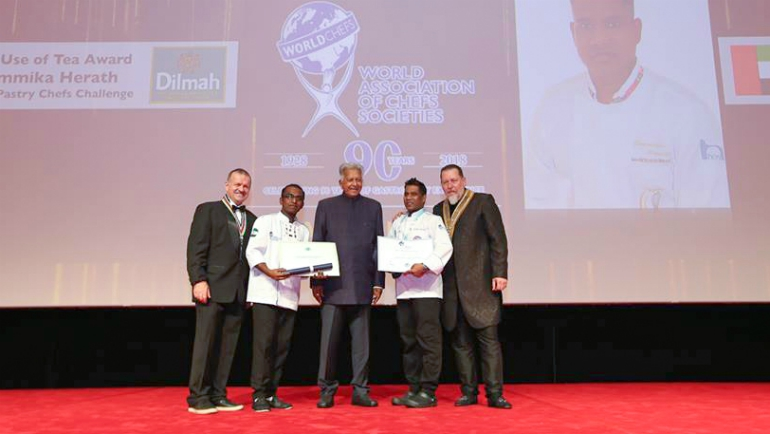 Chefs Dammika Herath and Tharindu Ganihiarachchi of Radisson Blu Hotel, Dubai Deira Creek, were presented...
