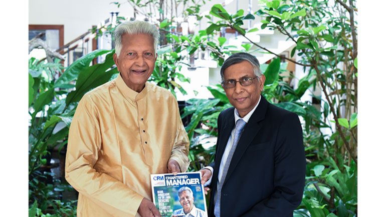 Merrill J. Fernando, Founder of Dilmah Tea was honoured by Professor Lakshman R. Watawala, Founder...