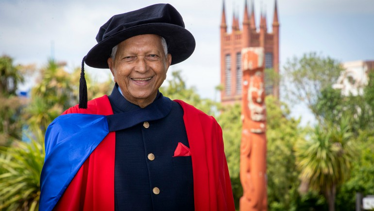 Dilmah Tea Founder Merrill J. Fernando has been capped as a Doctor of Science by...
