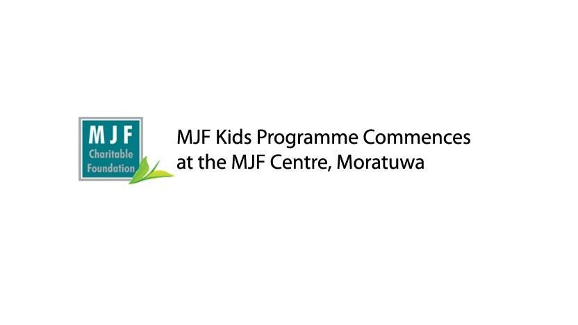 MJF Kids Programme Commences at the MJF Centre, Moratuwa