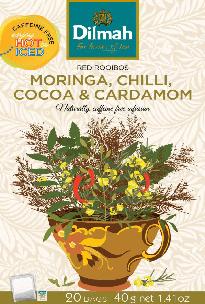 Red Rooibos Moringa, Chilli, Cocoa & Cardamom