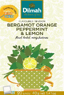 Flavoured Infusion Bergamot Orange, Peppermint & Lemon