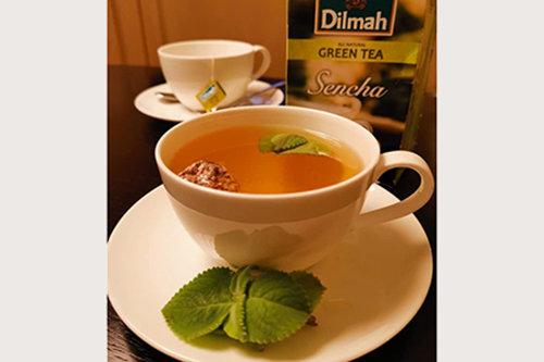 Sencha & Sour Plum With Indian Borage