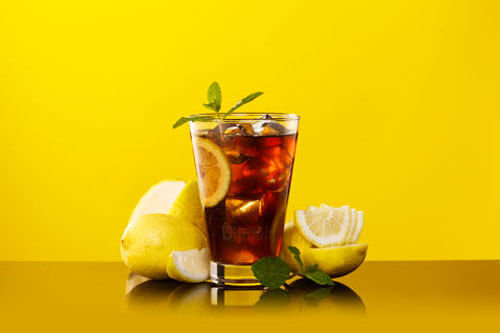 Black Tea with Lemon &  Mint Mocktail