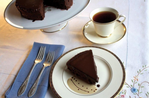 Chocolate Melting Moments Torte, Flavoured with Assam Tea
