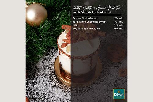 White Christmas Almond Milk Tea