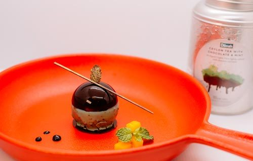 Spring Time Chocolate with Almond Crispy Mango Infused with Dilmah Ceylon Tea with Chocolate and Mint